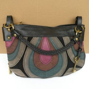 FOSSIL FIFTY FOUR PATCHWORKS BAG